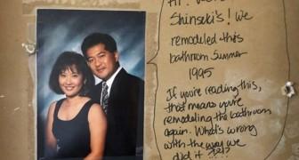 Ein Paar renoviert das Badezimmer: Bei den Arbeiten finden sie eine Nachricht von den Vorbesitzern