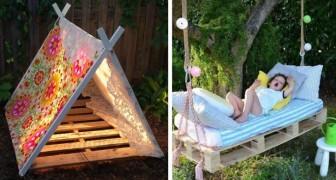 19 idées de bricolage avec des palettes que vos enfants adoreront.