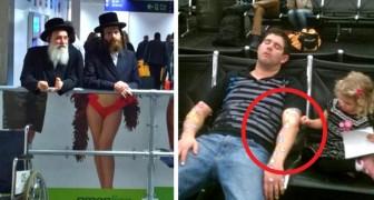 Algunas situaciones divertidas que puden verificarse solo en la sala de espera de un aeropuerto