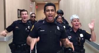 Desafio de baile entre los cuerpos de policia: la coreografia sobre la cancion de Bruno Mars es perfecta y el video se convierte en viral