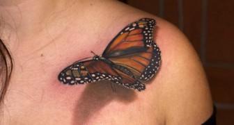 Optiska illusioner på huden, 21 tatueringar i 3D som är så bra gjorda att de ser verkliga ut