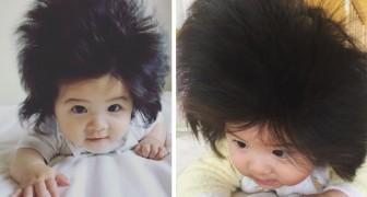 Este bebê tem só 7 meses mas já está famosa por causa de seus cabelos
