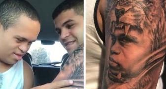 Er lässt sich das Gesicht des kleinen Bruders mit Down-Syndrom tätowieren: Als er es sieht, ist es pure Emotion