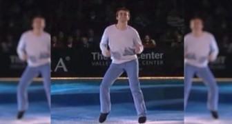O patinador leva para o gelo a coreografia de Footloose e o público adora!
