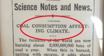 L'articolo di giornale che 106 anni fa mise in guardia sui cambiamenti climatici e che indovinò il futuro