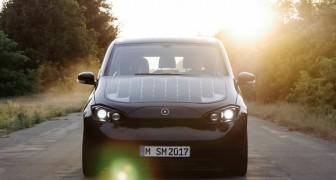 Sion komt eraan, de eerste elektrische auto die je met behulp van de zon kan opladen