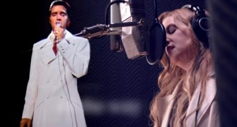 Elvis Presley's daughter records a duet' with her father ... and the result is pure emotion