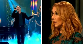 A guy presents himself with a song by Queen and when he starts to sing, Celine Dion is also astonished!
