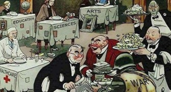 Questa illustrazione ha più di 60 anni, ma putroppo è ancora tremendamente attuale
