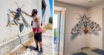 Cet artiste crée des graffitis qui vont au-delà des 2 dimensions... Et ils sont incroyablement réalistes