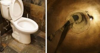Een man begint met graven om zijn waterleiding van het toilet te repareren, maar dan ontdekt hij een historische en archeologische schat