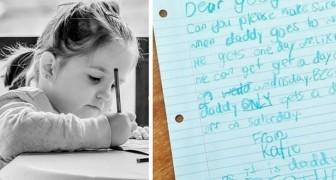 Uma menina escreve para o chefe de seu pai para pedir que ele lhe dê um dia de férias: veja a resposta do homem