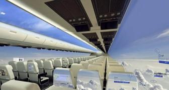 Fensterlose Flugzeuge werden das Fliegen zu einem unvergesslichen Erlebnis machen.... und super-panoramisch.