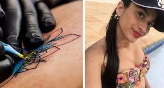 Perde o bebê e fica paralisada: tudo isso por causa de uma tatuagem