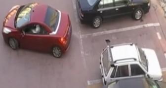 Ein Autofahrer klaut ihr den Parkplatz, aber sie hat eine TEUFLISCHE Lösung parat!