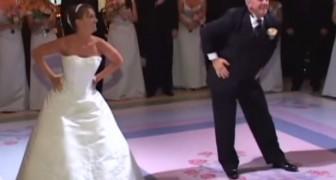 Divertentissimo ballo tra padre e figlia al matrimonio
