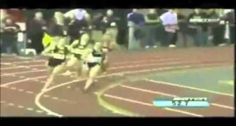 Girl falls during a race, but what happens next is unbelievable