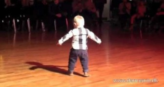 2 year old dancing the Paso doble