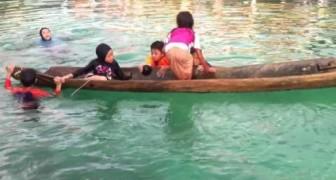 La genial solucion en el caso de inundacion de una canoa
