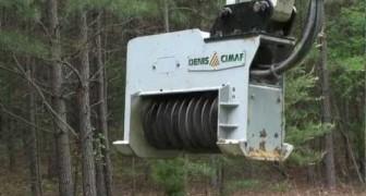 Regardez comment cette incroyable machine détruit des arbres entiers