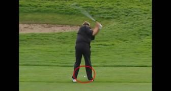 El tiro mas afortunado de todos los tiempos jugando al golf