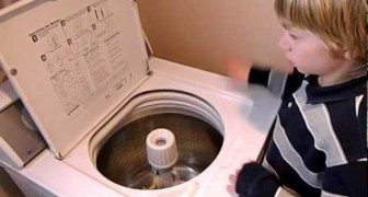 You won't believe how good this boy is, drumming with a washing machine !
