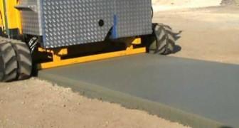 Ecco come si possono asfaltare 18 metri di strada al minuto