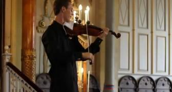 Un celular suena durante el concierto del violinsta, pero su reaccion es simpatiquisima