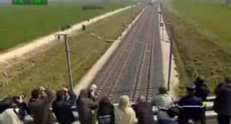 De trein rijdt 574 km per uur