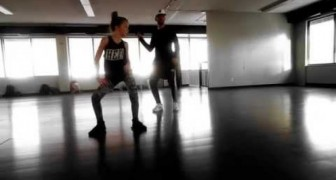 This 11 year old girl dances with a crazy determination, better than Nicki Minaj!!