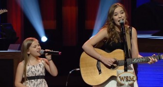 This song is beautiful, and the cover by these two sisters is even better than the original!