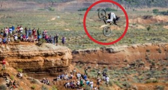 One of the most daring front flips in mountain bike history