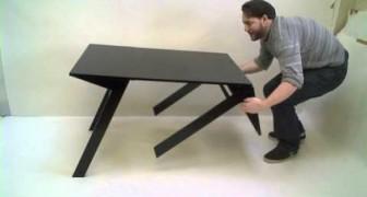 Er sieht wie ein ganz normaler Tisch aus, doch es verbirgt sich eine geniale Idee dahinter