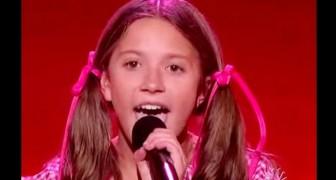 Het is ongelofelijk dat een jong meisje geleerd heeft zo te zingen van een bandje