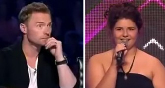 The judges weren't too sure about this shy girl but it only took them a few seconds to change their mind !!