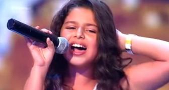 O talento desta menina de 9 anos surpreende os jurados