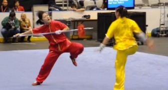 Look at these two women performing martial arts. CRAZY!