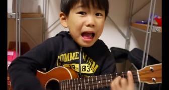 Je wordt BETOVERD door dit jongetje zodra hij begint te zingen. Schattig!