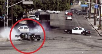 Geniet van deze uitzonderlijke evolutie in de straten van Los Angeles, Kippenvel!