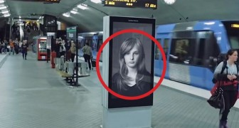 Het zou een shampoo reclame kunnen zijn maar... wacht tot de trein langs komt.