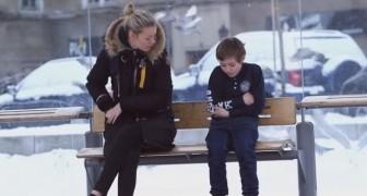 Un enfant meurt de froid dans la rue: voilà comment réagissent les passants...