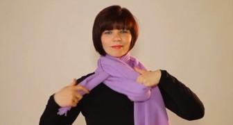 Cette femme vous montre plus de 20 façons DIFFÉRENTES de mettre son écharpe. A vous de choisir!