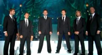 6 mannen trakteren het publiek op een uitzonderlijke voorstelling in perfecte harmonie