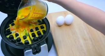 Elle met des œufs dans l'appareil à gaufre: le résultat fait venir l'eau à la bouche!