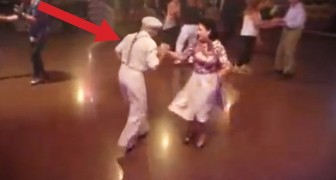 Old couple gets up to dance: you will be stunned by what they can do!