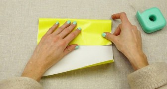 Here's the secret to turn a sheet of paper in a bag. Brilliant!