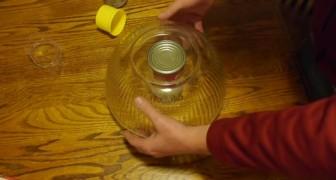 Cubre una lata con un peso y crea la mas segura caja fuerte
