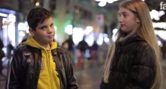 Eles pedem para essas crianças bater em uma menina: vejam como respondem.
