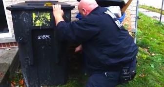 Ze horen gekreun van achter een vuilnisbak: wat zij vinden zij zal u verbazen