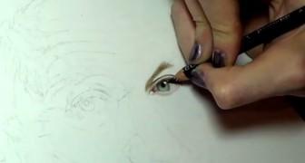 Dieses Mädchen hatte noch nie Zeichenunterricht, aber ihr Werk ist der HAMMER